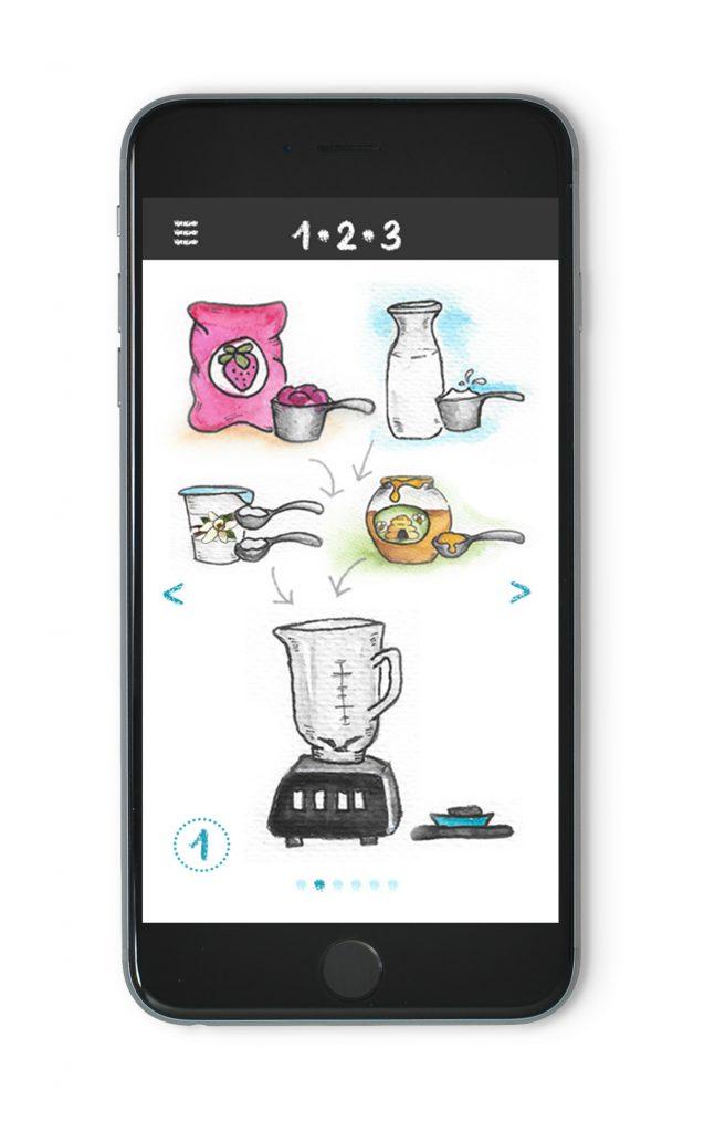 Prototype of recipe app