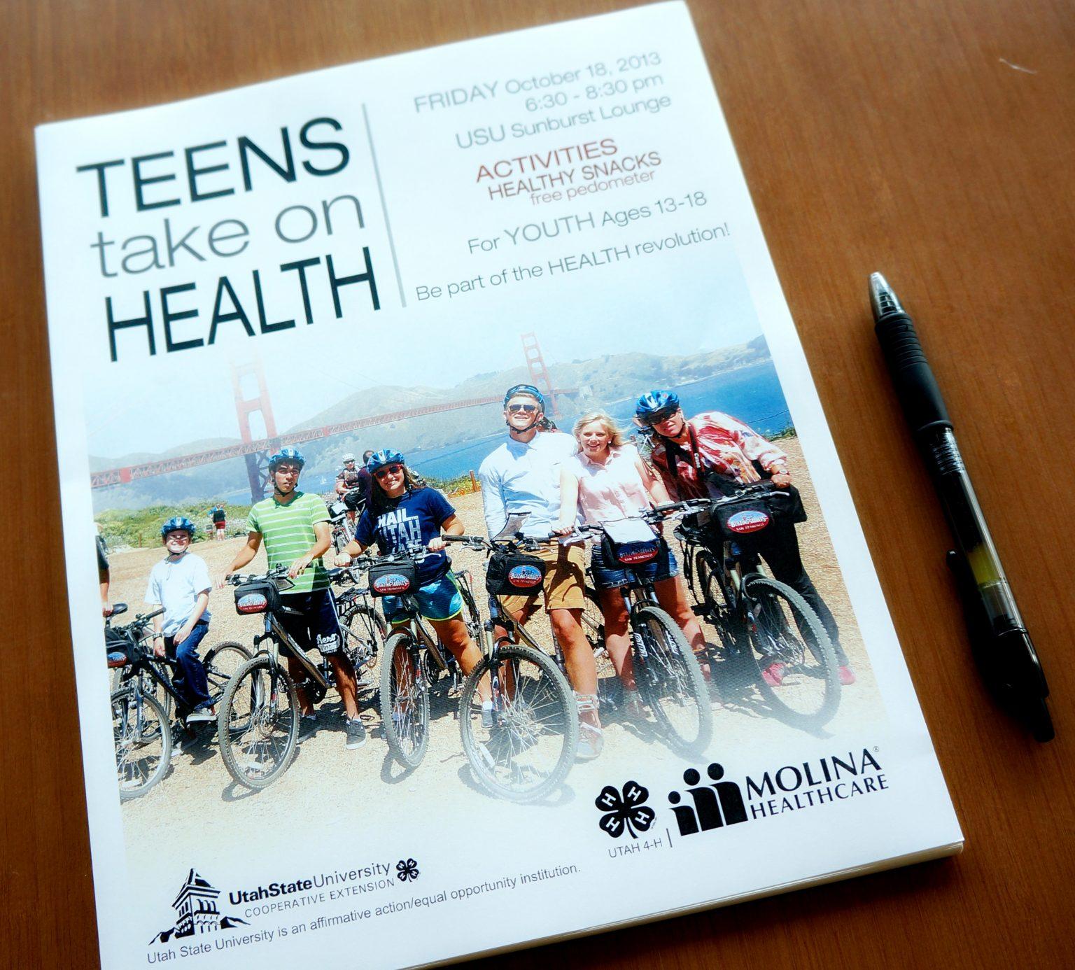 Teens Take On Health Flier