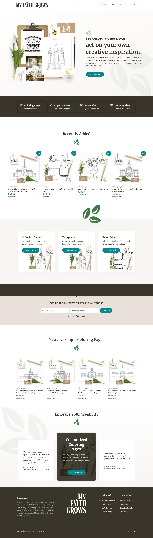 Screenshot of the My Faith Grows website